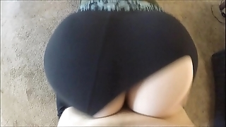Wtf! this guy ridged my yoga panties with the addition of dumped his load inner me