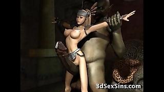 Weird monsters have sex 3d babes!