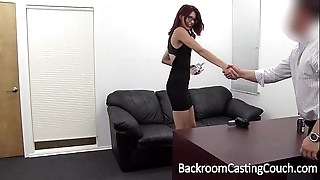 Slave christy chokes herself not far from anal advance creep