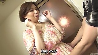 Well-proportioned voluptuous japanese yuko iijima unclad subtitled