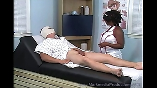 Unscrupulous nurse milking uninspiring cock