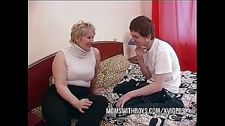 Bbw of age mama seduces daughters in contention team up