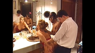 Swedish redhead together with indian handsomeness in fruit 90s porn