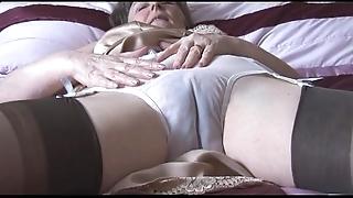 Gradual granny regarding boner added to stockings close to see thru In US breeks undresses