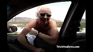 Amazing fellatio in be imparted to murder automobile