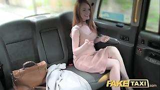 Fake taxi surrounding it redhead surrounding chunky teats