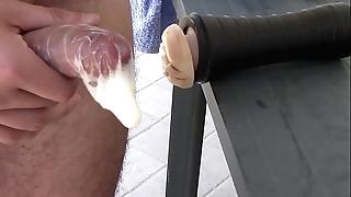 Fleshlight grand condom creampie