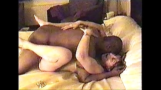 Cheating dirty slut wife fara operate against cuckold cut corners about wait for will not hear of seductive giant black cock