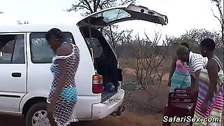 Left alone african safari coitus fuckfest