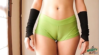 Seethe keister legal age teenager running out! cameltoe, heavy ass, perky tits!
