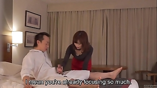 Subtitled cfnm japanese motel milf massage leads involving tugjob