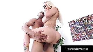 Sexy Eye dialect guv'nor nina kayy is group-fucked at the end of one's tether a obese dick grunt worker!