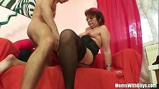 Emo grandma jana pesova screwed in sexy nylons