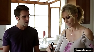 Well-endowed milf drilled inwards by stepson