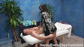 Horny rub down catholic seduces customer