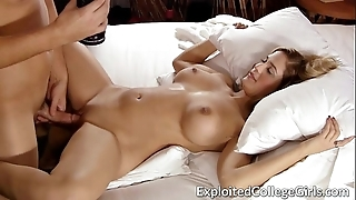 Busty let pass drilled increased by facialed