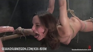 Serfdom brunette pamper gives oral job coupled with fucking