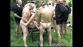 German open-air groupsex orgy