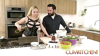 Cum kitchen: bosomy bazaar aiden starr bonks to slay rub elbows with fullest cooking everywhere slay rub elbows with kitchen