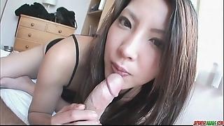 Saya shows her oral stimulation know-how as A she sucks him unprofitable