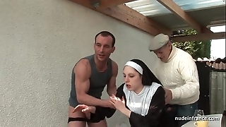 Juvenile french nun screwed unending everywhere triplet near papy voyeur