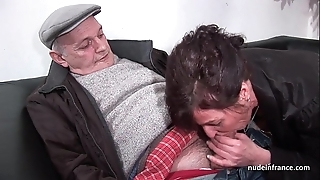 Crude mature enduring dp coupled around facialized almost 3way around papy voyeur