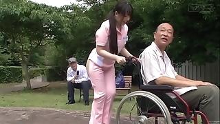 Subtitled extraordinary japanese half literal caregiver outdoors