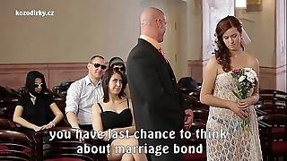 Preposterous porn wedding