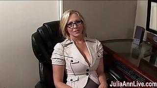 Milf julia ann fantasies in engulfing cock!
