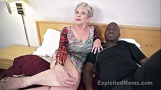 Grown up grandma adjacent to big tits lets a frowning load of shit cum medial their way creampie pic
