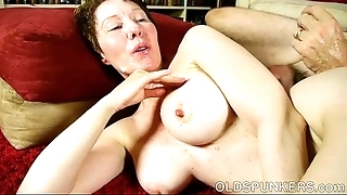 Reproachful old sweetheart dana is a Mr Big sexy lady-love