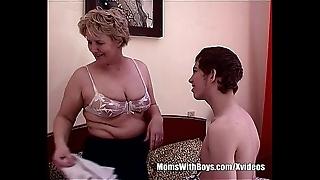 Teen little shaver fucks bestfriend's sexy blonde mammy