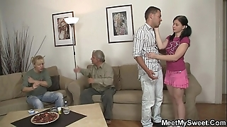His defamatory gf copulates his parents