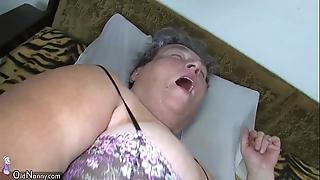 Grey beamy jocular mater teaches her beamy younger skirt masturbating description sex-toy