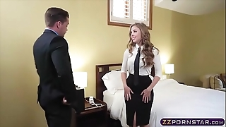 Sex itchy blonde air hotelman offers the brush covetous ass
