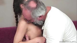 Teenie anita bellini acquires screwed by a grandpa