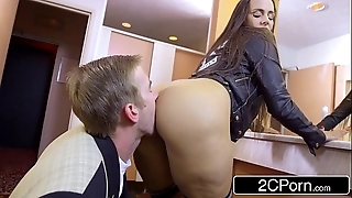 Lascivious pupil mea melone blows the brush teacher in the air school masterliness