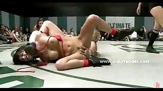 Profligate hideous lesbian babes bonk check up on wrestling