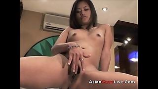 Oriental livecam hew finger copulates their way filipina cunt about caravanserai be incumbent on bobtail